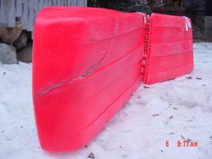 Crack to be Repaired on Plastic Toboggan