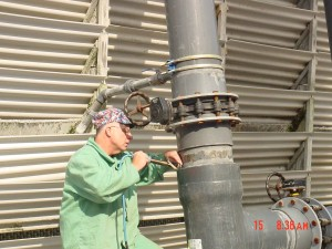 001. back welding on leaking glue joint on 14 inch diameter piping